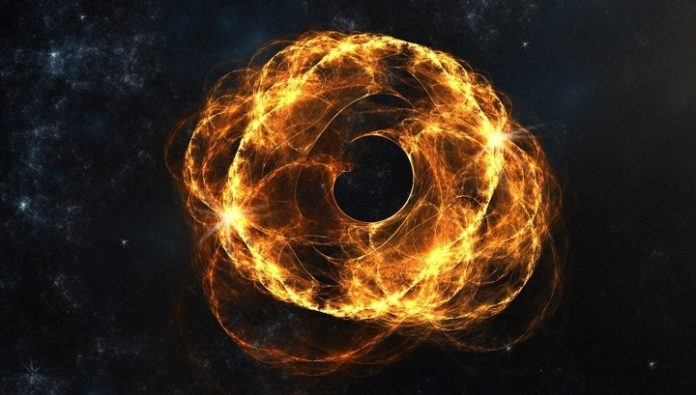 Three black holes can violate the reversibility of time