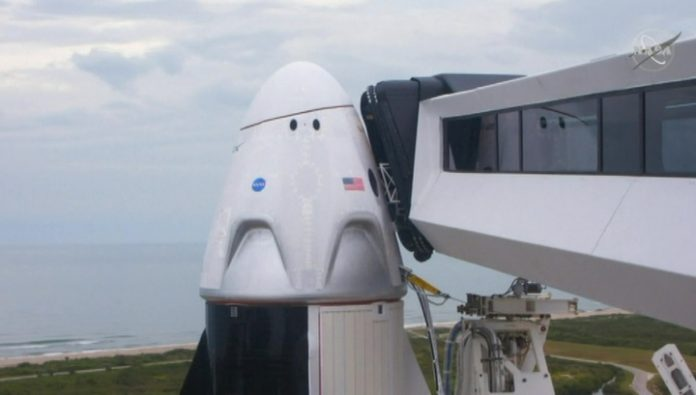 The launch vehicle Falcon-9 pending