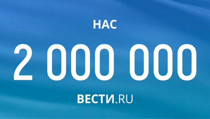 On Вести.Ru in Facebook signed up 2 million people