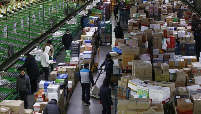 The delivery service blamed customs delays of online shopping from abroad