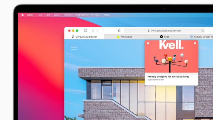 The Safari browser will reveal the tools of surveillance on any website